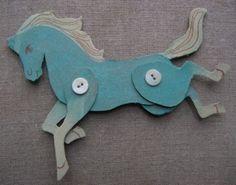 Cardboard horses #tutorial #crafts by Ginger Washburn