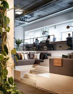 Open-plan offices mean more freedom of movement and flexible spaces for work-related duties.