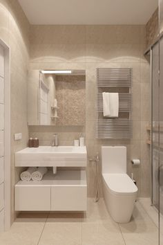 Amazing DIY Bathroom Ideas, Bathroom Decor, Bathroom Remodel and Bathroom Projects to help inspire your bathroom dreams and goals. Bathroom Design Luxury, Bathroom Layout, Modern Bathroom Design, Modern Interior Design, Small Bathroom, Bathroom Ideas, Bathroom Cabinets, Master Bathrooms, Washroom