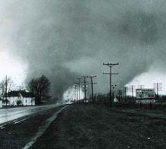 1965 Goshen, Indiana tornado.  Or rather tornado(s)....