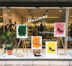 """ZIO FOOTWEAR, Helsinki, Finland, """"Life is the Art of drawing without an eraser"""", pinned by Ton van der Veer"""