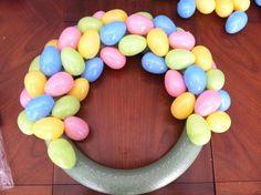 Easter Plastic Egg Wreath