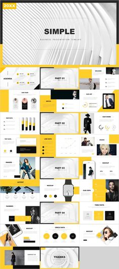 Yellow year report PowerPoint template – The highest quality PowerPoint Templates and Keynote Templa Template Web, Powerpoint Design Templates, Professional Powerpoint Templates, Keynote Template, Report Template, Power Points, Business Presentation, Presentation Design, Presentation Slides
