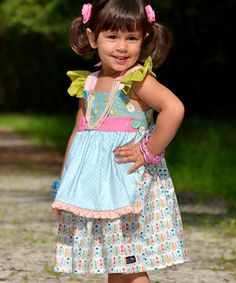 Another great find on #zulily! Happy Home Reversible Apron Dress - Toddler & Girls by Fabulous Girl Clothing #zulilyfinds