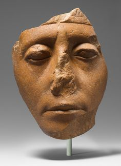 Face of Senwosret III, ca. 1878-1840 B.C. Middle Kingdom, Dynasty 12. Egypt. The Metropolitan Museum of Art, New York. Purchase, Edward S. Harkness Gift, 1926 (26.7.1394)   This face from a statue of Senwosret III presents a strikingly different view of the same ruler depicted in a sphinx bearing his name. The sphinx's fleshy face looks worn, yet this visage appears fresh and animated. #OneMetManyWorlds