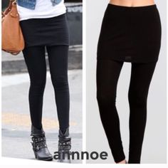 🆕1 M/ 2 L left on restock THESE ARE PERFECT FOR women that want to wear leggings and dress like our age, not younger than we are😘They are super soft and comfortable.  You can add a short shirt and show off the skirt or add a tunic dress and add depth and sophistication.  They are 95% rayon and 5% spandex.  🎈FIT GUIDE: SMALL (2,4) MEDIUM (6,8) LARGE (10,12) Accessories