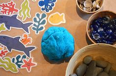 Prinable ocean play dough