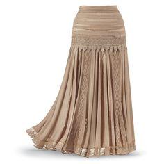 Mixed-Media Skirt - Women's Clothing & Symbolic Jewelry – Sexy, Fantasy, Romantic Fashions $69.95 xs - 3x