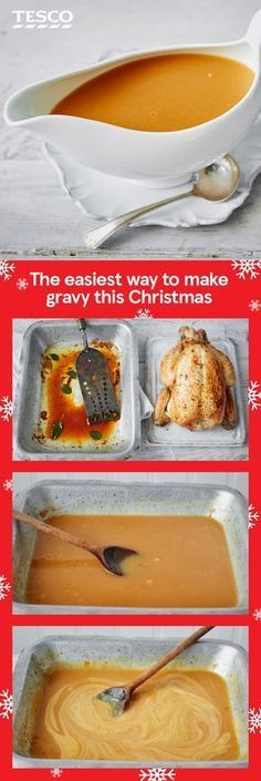 Follow these simple steps for an easy, flavour-packed Christmas gravy this year. This foolproof recipe can be adapted for any roast dinner, so it's the only gravy recipe you'll ever need. | Tesco