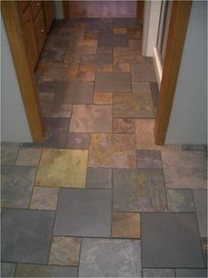 Don't forget to get this Slate Bathroom Floor Tiles, and view full page gallery as well.slate pinwheel bathroom floor f