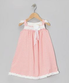 Look what I found on #zulily! Coral Zigzag Babydoll Dress - Infant & Toddler #zulilyfinds