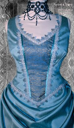 Stunning Unique one off Blue Victorian by Harlotsandangels on Etsy, $950.00