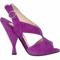 Prada Asymmetrical Slingback Sandals at Barneys.com