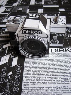 The Dirkon pinhole 35mm camera is made entirely from paper cut from a template by designers Martin Pilný, Mirek Kolář and Richard Vyškovský. The three published the template in a 1979 issue of Cz...