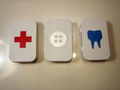 "Three ""survival"" kits to make from Altoids Tins - fun project with kiddos!"