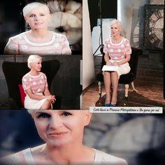 """Carla Gozzi con una blusa Princesse Mettopolitaine durante il programma """"Un giorno per me"""" su Real Time."""