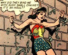Don't insult her — it's Wonder Woman Weekend! —Sensation Comics #21 (1943) by William Moulton Marston & Frank Godwin