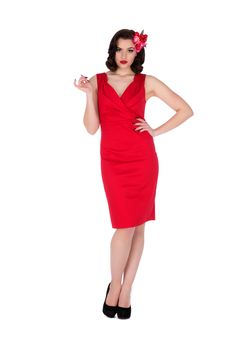 6288d2ca9b8 Cheryl Dress in Red 1950s Fashion Dresses