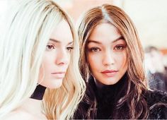 Kendall Jenner Is a Blonde and Gigi Hadid Is a Brunette at Paris Fashion Week