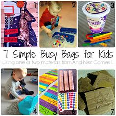 And Next Comes L: 50+ Simple Play & Learning Ideas for Kids Using One or Two Materials
