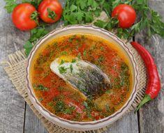 Ciorba de peste cu rosii - Bucataria Romaneasca .ro Hummus, Salsa, Mexican, Ethnic Recipes, Food, Homemade Hummus, Salsa Music, Meal, Restaurant Salsa