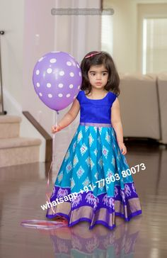 WhatsApp IkkatKidsLehenga for born babies to 3 years kids , Baby Girl Lehenga, Kids Lehenga, Long Frocks For Kids, Kids Frocks, Girls Party Wear, Kids Wear, Gowns For Girls, Baby Girl Dresses, Toddler Outfits