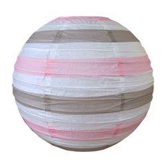 Stripe - Light pink, taupe & white