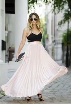 #Sexy Crop Top and Skirt
