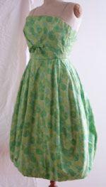 1950s Floral chiffon puffball dress by Helga. http://vintagedress.co.uk/40_70.html