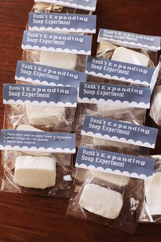Science Party Favors: Expanding Soap Experiment - Mighty Girl