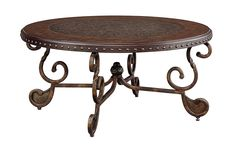 Ashley Furniture Signature Design - Rafferty Coffee Table - Cocktail Height - Round - Dark Brown -- Thanks a lot for viewing our picture. (This is our affiliate link) Ashley Furniture Reviews, Brown Wood, Dark Brown, Ashley Furniture Industries, Dark Wood Stain, Contemporary Coffee Table, Round Coffee Table, Shabby Chic Furniture, Metal Furniture