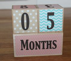 Wooden Baby Milestone Blocks. Photography by KADdesignsforlove