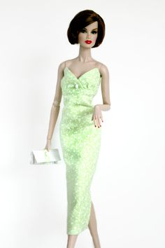 Green and White Floral Dress  by Chic Barbie Designs on Etsy