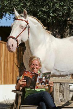 "Stallion ""Sandokan"" - A beautiful Lusitano horse white (and it is uncommon) - Casal Dos Rios Coudelaria"