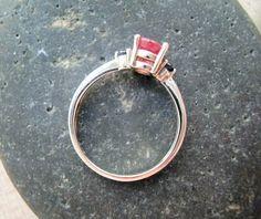 Ruby Blues  Genuine Ruby & Sapphires  OOAK Ring by CeeMonkeyDo, $140.00