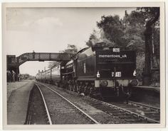 1952 Maltby Railway Station Photograph Steam Locomotive Train 945 S Yorkshire Steam Locomotive, Yorkshire, Transportation, Train, London, Big Ben London, London England, Trains, Yorkshire Pudding Recipes