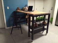 High-top Gerton Slab Kitchen Island | IKEA Hackers | Bloglovin'
