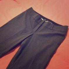 LOFT gray dress pants LOFT gray dress pants. Marisa trousers cut size 10. Bootcut bottoms. Waist: 18. Rise: 9. Inseam: 33. Never worn. LOFT Pants Trousers