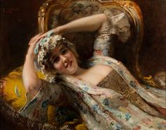 View COQUETTE by Konstantin Egorovich Makovsky on artnet. Browse upcoming and past auction lots by Konstantin Egorovich Makovsky. Academic Art, Ukrainian Art, Purple Garden, Edward Hopper, Black Sails, Edgar Degas, Imperial Russia, Girl Reading, Russian Art