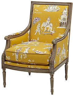 One Kings Lane James Accent Chair - Yellow Pagoda