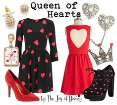 Alice in Wonderland Inspired Outfits | The Joy of Disney: Queen of Hearts (Alice in Wonderland)