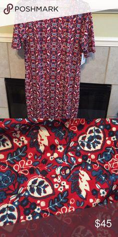NWT 3xl Lularoe Americana Julia NWT 3xl Lularoe Americana Julia (fits closer to a 2x) LuLaRoe Dresses Midi