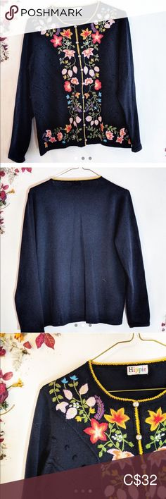 Spotted while shopping on Poshmark: Hippie Vintage Cardigan! Vintage Hippie, Cool Tanks, Black Trousers, Plus Fashion, Fashion Tips, Fashion Trends, Pom Poms, Sweater Cardigan, Cardigans