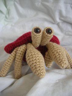 Herman the Hermit Crab  Amigurumi Plush Crochet by daveydreamer, $3.50