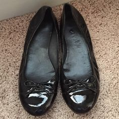Cole Haan Flats Cole Haan with Nike Air black patent ballet flats. Used but in good condition *if not sold by 4/1, it is going to Goodwill!* Cole Haan Shoes Flats & Loafers