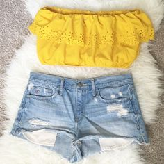 Yellow Bandeau Perfect For summer! Size M/L ASOS Tops Crop Tops