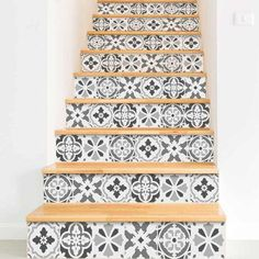 4-Portuguese-Tiles-stencils-painted-stair-staircase-stencil-tile