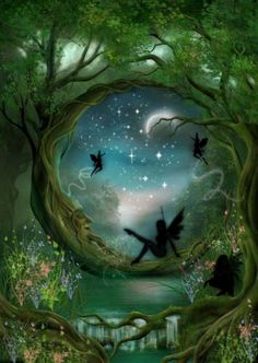 Image about art in Fantasy & Fairies by Morgana Moon Fairy Land, Fairy Tales, Wow Art, Fantasy World, Fantasy Forest, Fantasy Witch, Fantasy Fairies, Forest Art, Faeries
