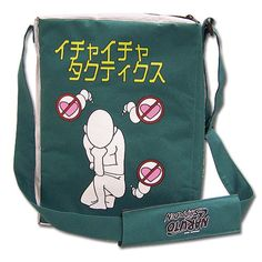 Naruto Shippuden, this weird looking bag is based on the Leaf Village's best selling adult book written by the pervy sage, Jiraiya. This light weight bag features an adjustable shoulder strap and zipper closure to seal your belongings. ++ Kinda hip, but is it a bag or a ZipLock? ++ LOL