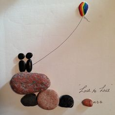 "Pebble Art ""Love is Love"" by Denise Gray"